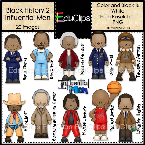 Men in Black History Clip Art.