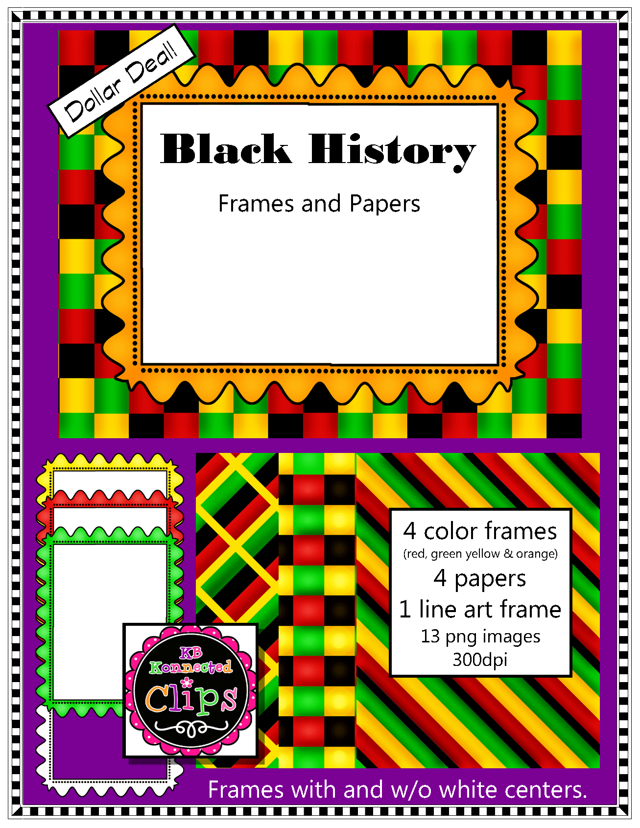 Black History Paper & Frame Collection.