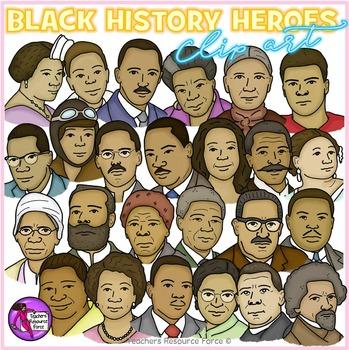 Black History Heroes Clip Art: crayon effect clipart.