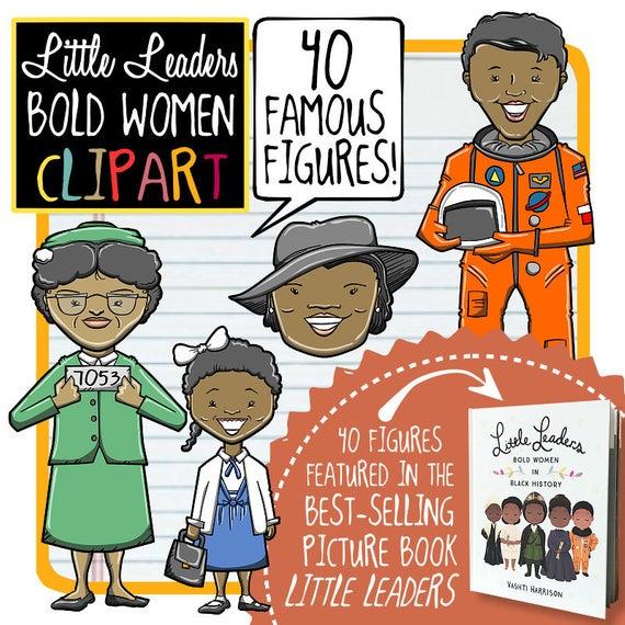 Little Leaders, Bold Women in Black History Clip Art.