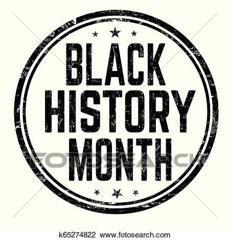 Black history month sign or stamp Clipart.