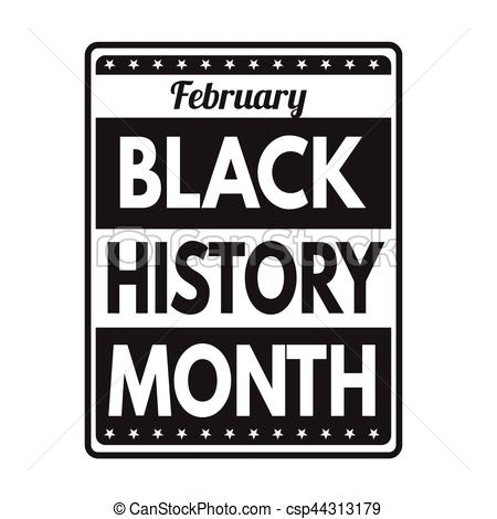 Black history month sign or stamp.