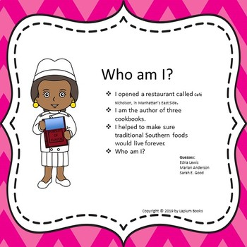 Black History Month Character Guessing Game.