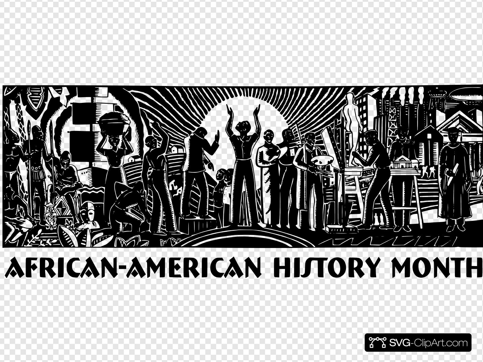 Black History Month Clip art, Icon and SVG.