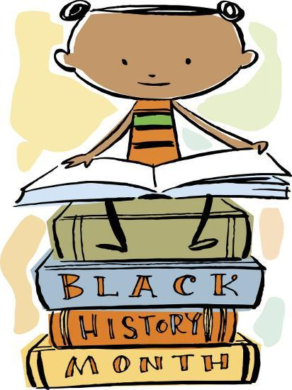 Book Reading Atop Books During Black History Month Photo by.