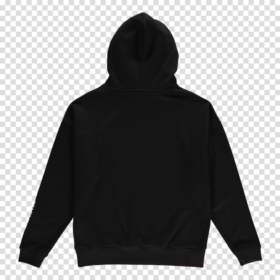 hood hoodie clothing black outerwear clipart.