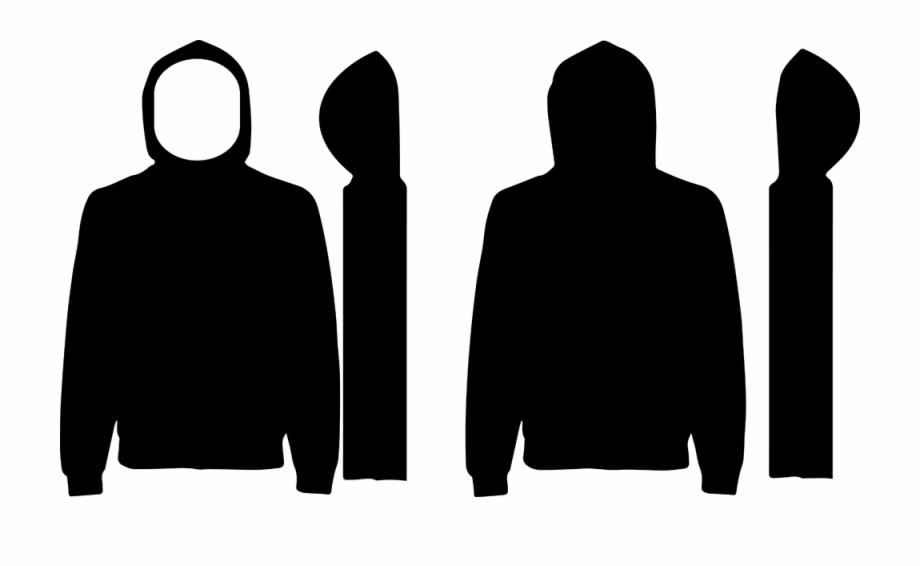 Free Hoodies Template Black Hoodie Design Template.
