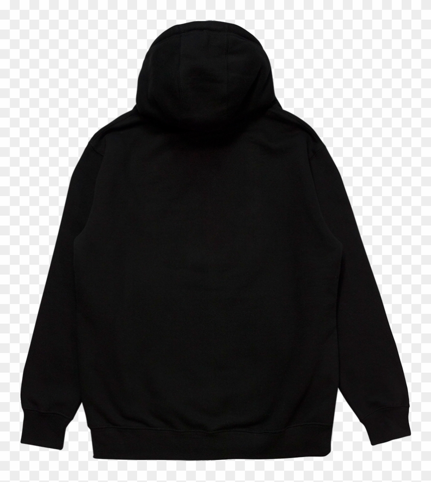 Crest Patch Black Pullover Hoodie.