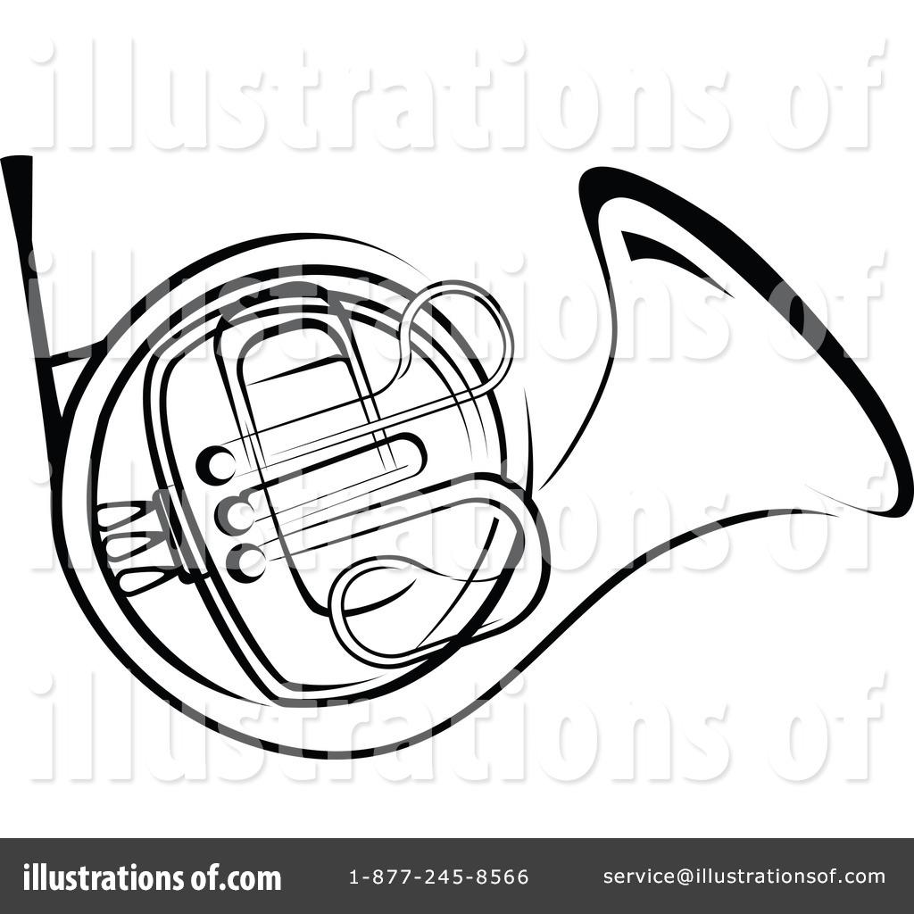 White horn clipart #12