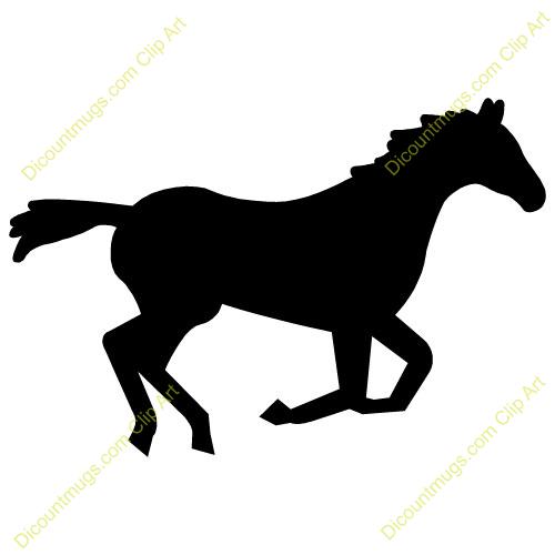 Black Horse Clipart.