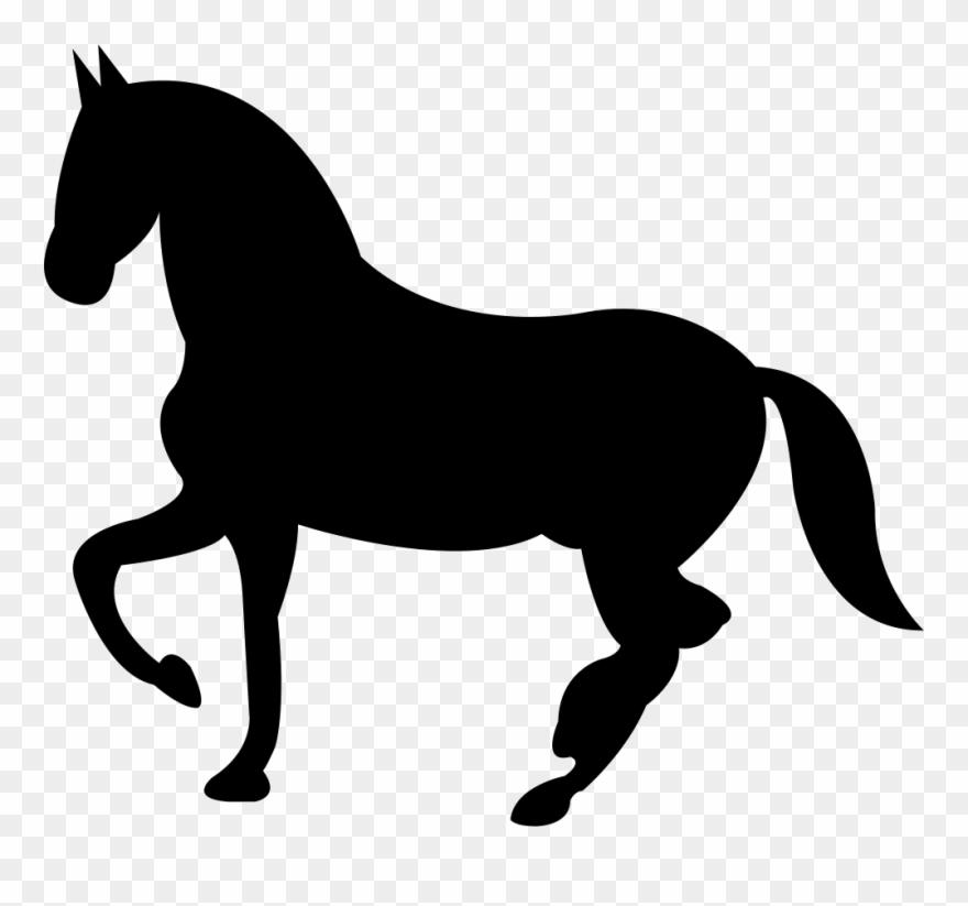 Dancing Black Horse Shape Of Svg Png.