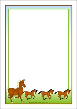 horse border clipart free #10