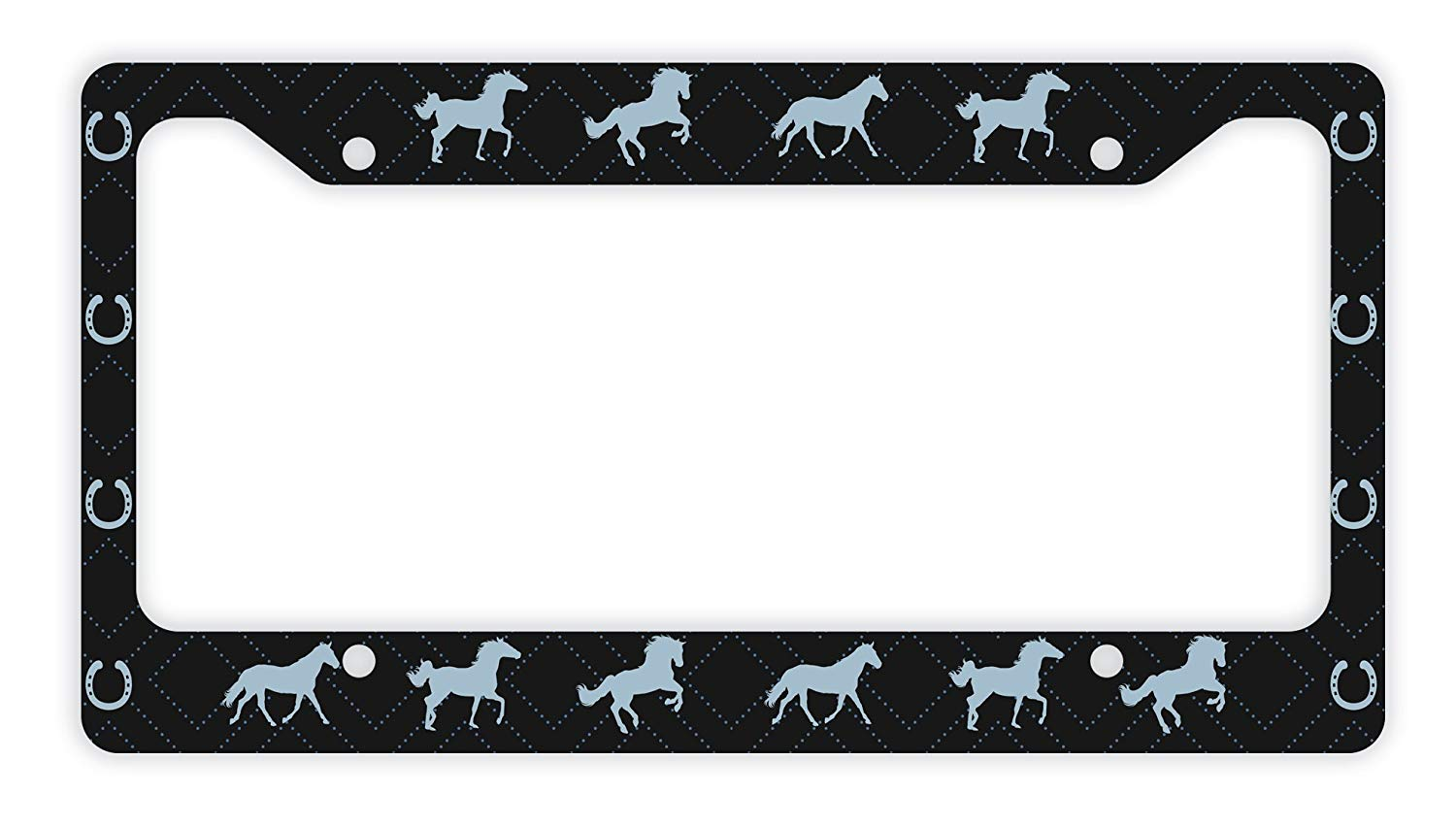 ThisWear Decorative License Plate Frame Horse License Plate Frame Horse  Trailer License Plate Frame Horse Car Accessories Novelty License Plate  Frame.