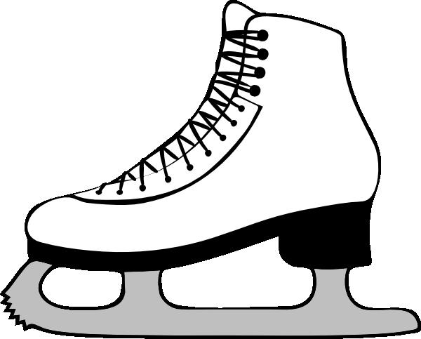 Black Ice Skater Clipart.