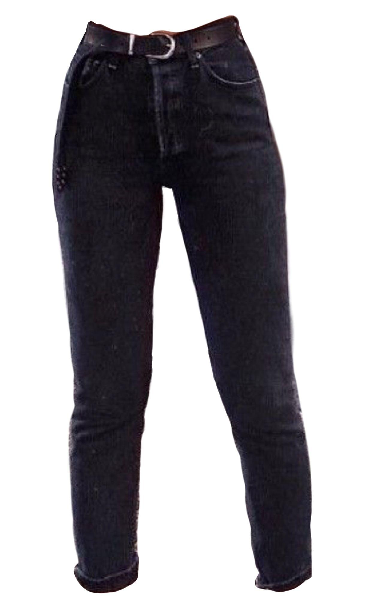 Black jeans pants polyvore moodboard filler.