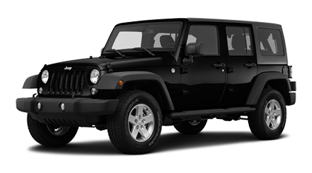Black Jeep PNG Transparent Image.