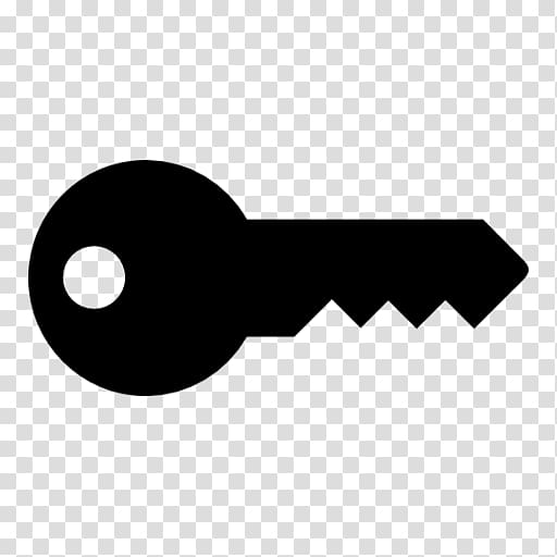 Black key icon, Key , Key transparent background PNG clipart.