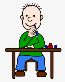Kid Cartoon Think, HD Png Download.