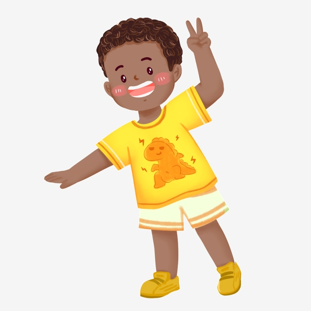 Black Skin Character Kid, Character, Child, Boy PNG Transparent.