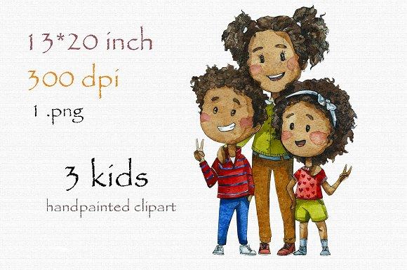 Black kids clipart 1 » Clipart Station.