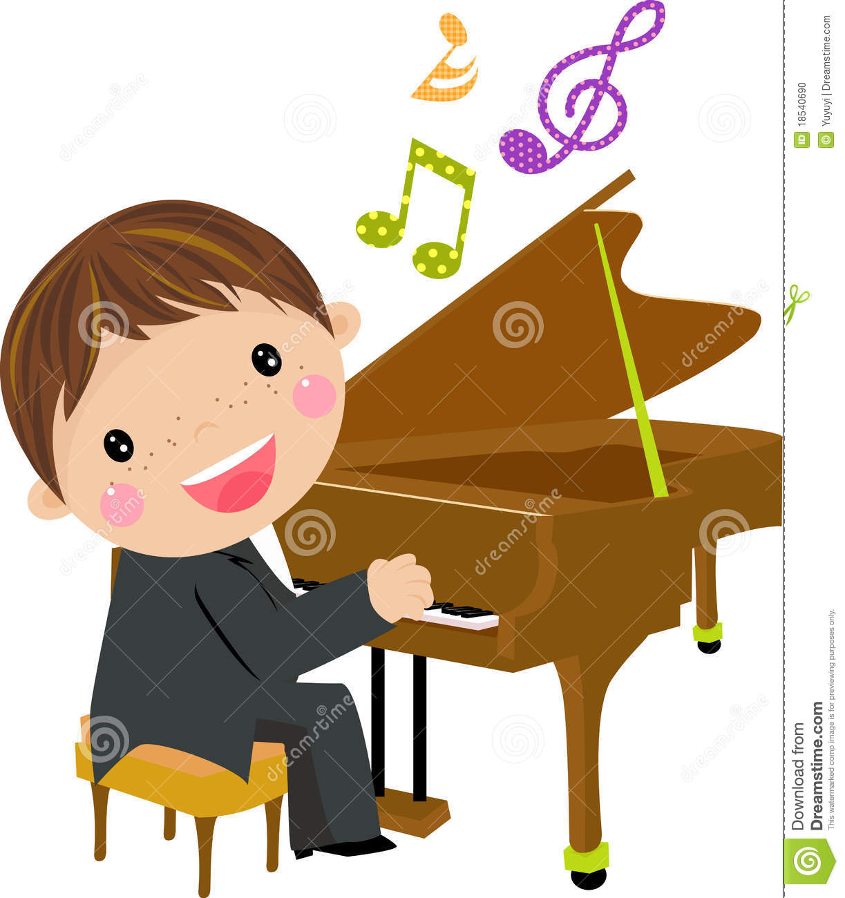 Piano Clipart Black and White.