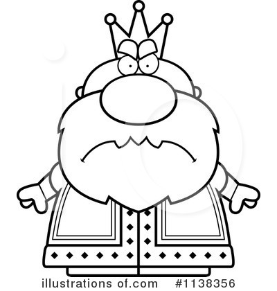 King Black And White Clipart.