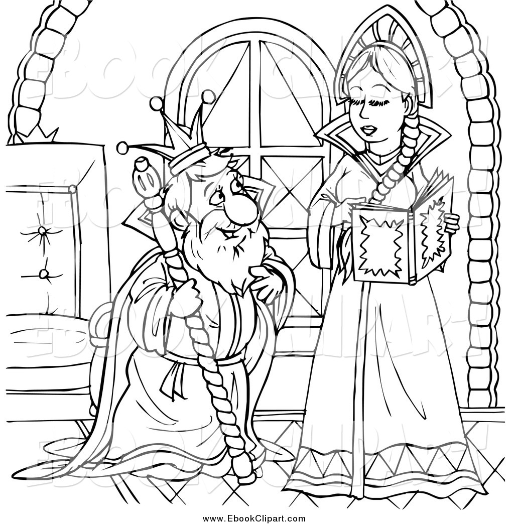 Queen Black And White Clipart.
