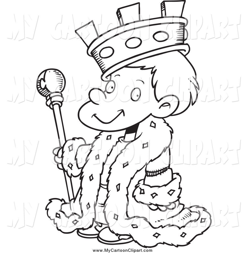 Boy and king clipart.