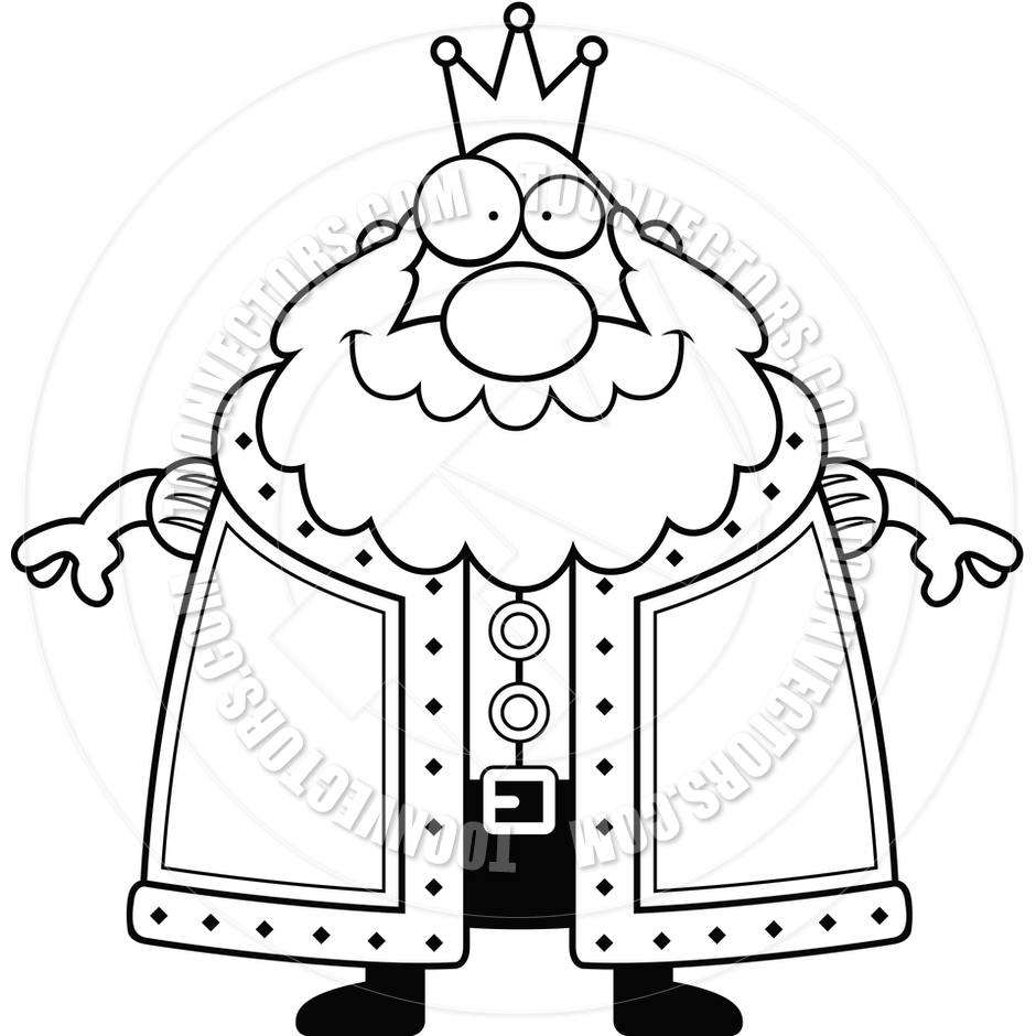 King clipart black and white.