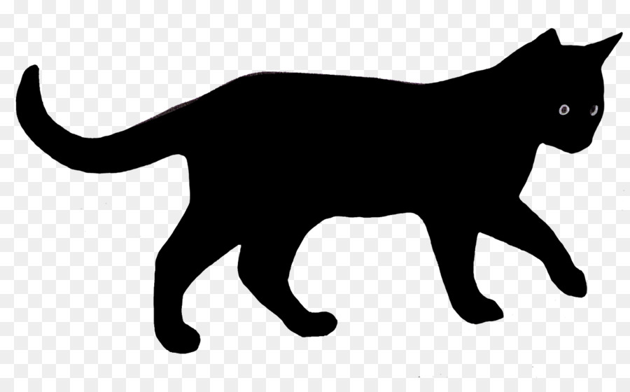 Cat Silhouette png download.