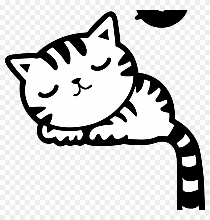 Kitten Clipart Black And White, HD Png Download.