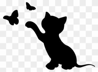 Free PNG Black Kitten Clip Art Download.