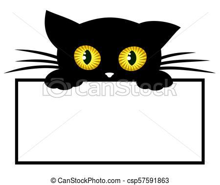 Frame with black kitten..
