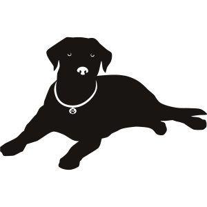 Free Clipart. Lab Dog Silhouette Our Labrador Retriever Dog Breed.
