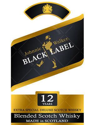 Johnnie Walker Black Label Cake Topper Artwork.