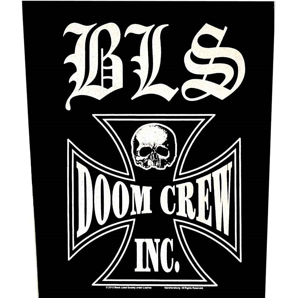 Black Label Society Sew On Canvas Back Patch Doom Crew Logo.