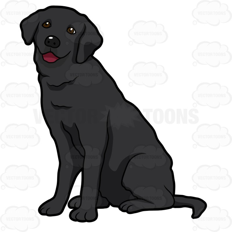 Clipart black lab 1 » Clipart Station.