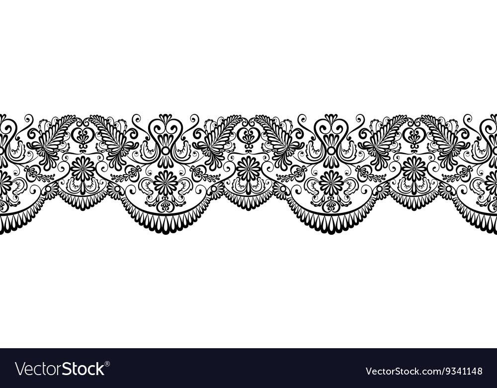 Black lace border.