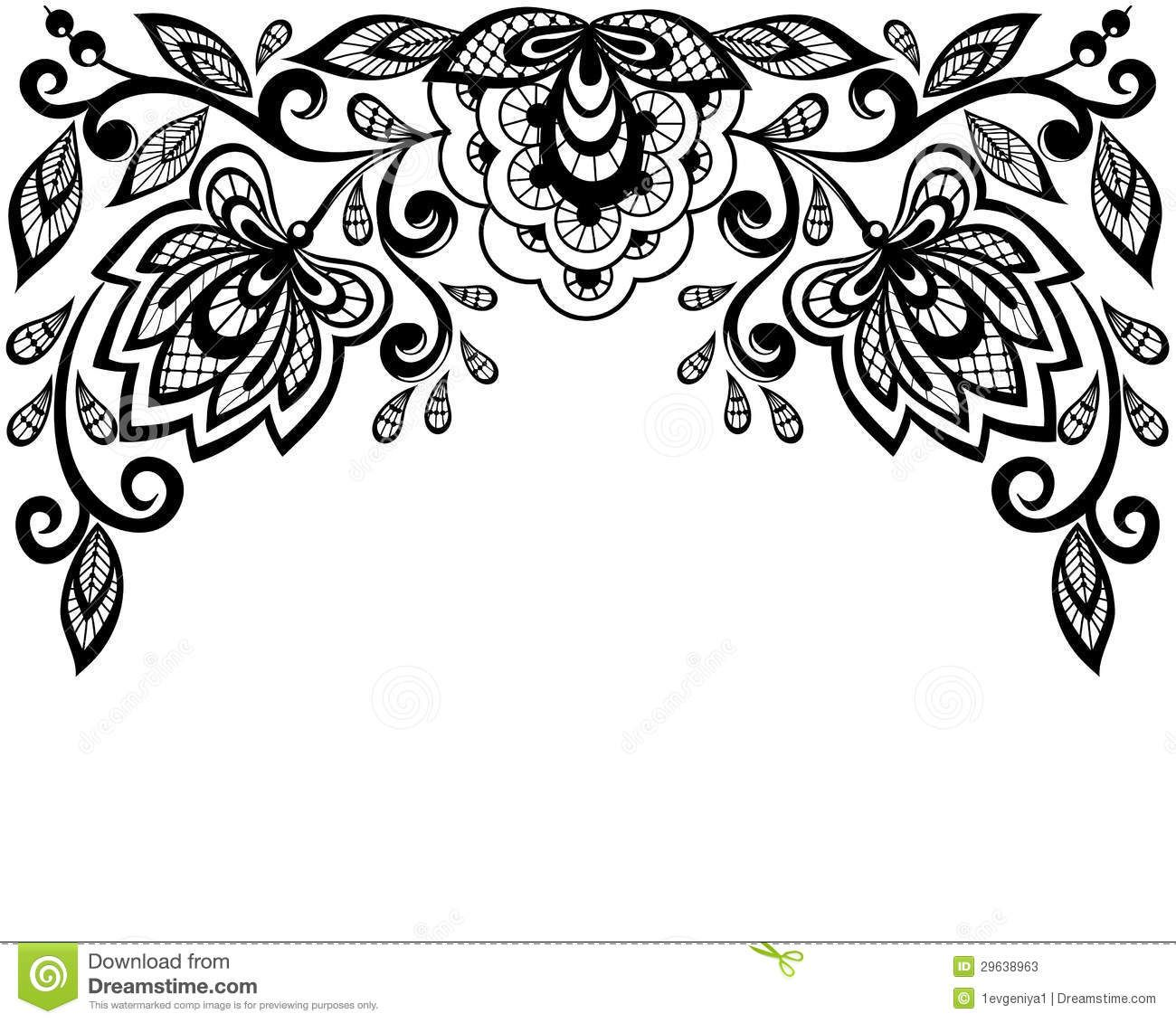 Leaves Clip Art Black And White Border.