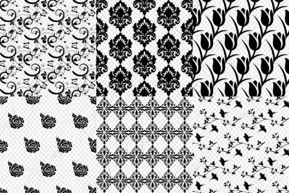 Black Lace Overlay Clipart.
