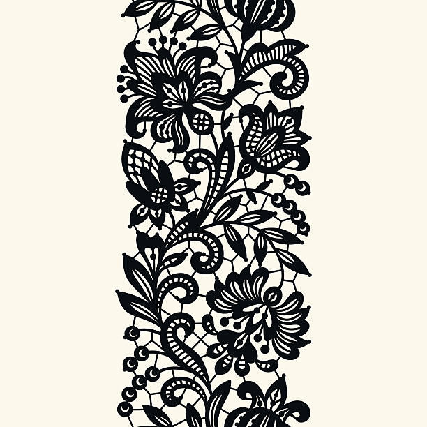 Best Black Lace Illustrations, Royalty.