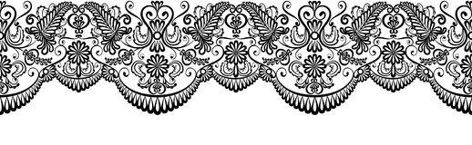 Black lace border stock vector. Illustration of border.