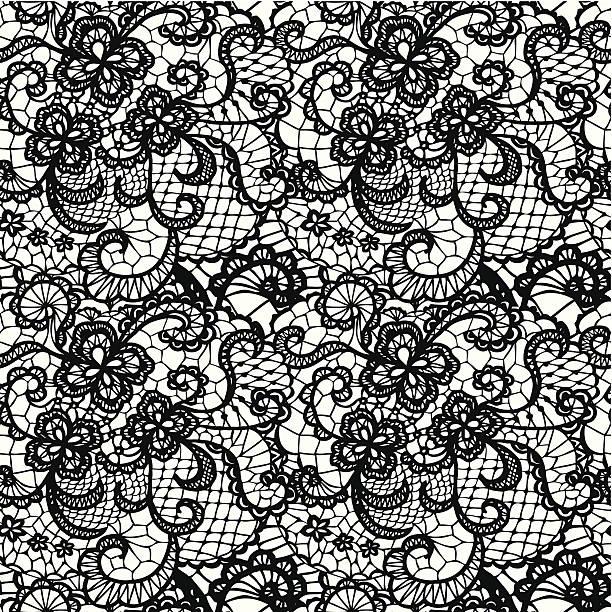 Best Black Lace Illustrations, Royalty.