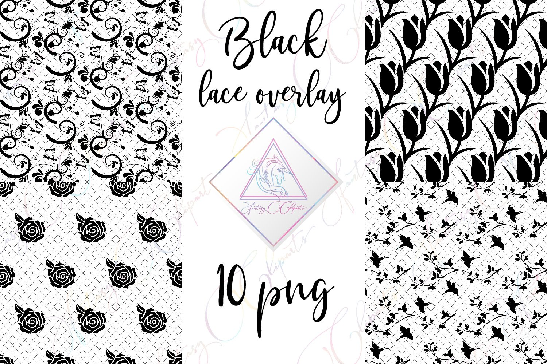 Black Lace Clipart.