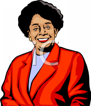Old Black Lady Clipart #1.