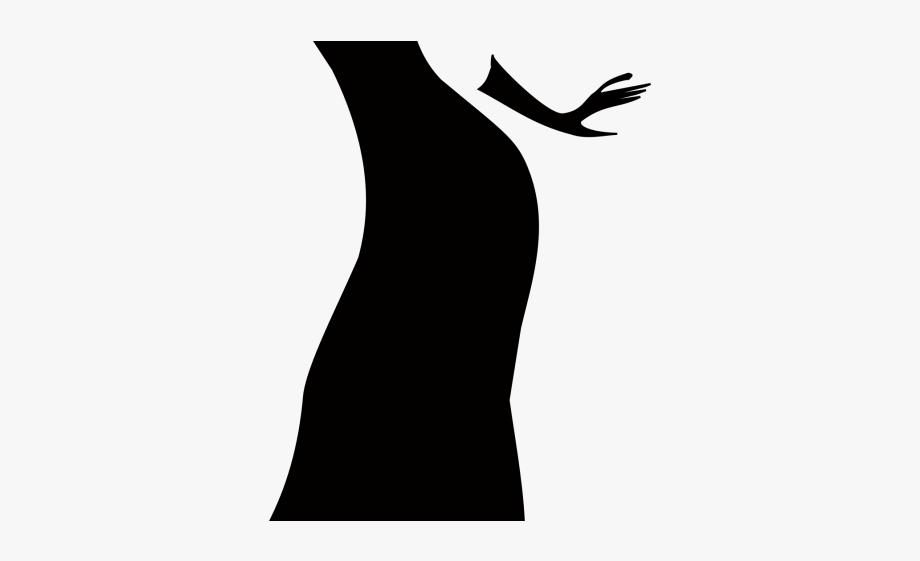 Black Dress Clipart Lady Dress.