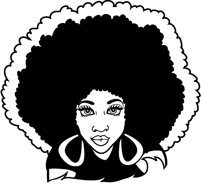 Free Black Woman Afro Silhouette, Download Free Clip Art.