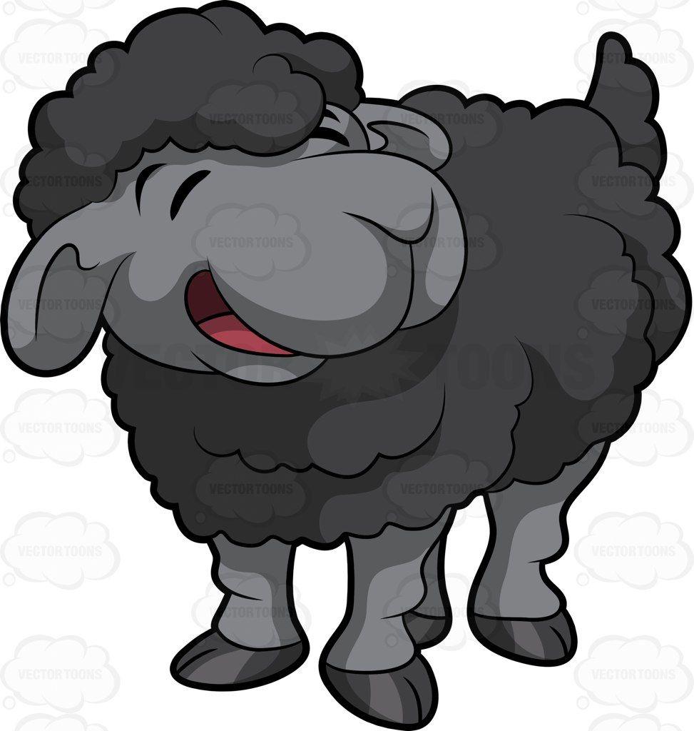 A little black sheep #cartoon #clipart #vector #vectortoons.