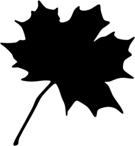 Black Leaf Clip Art at Clker.com.
