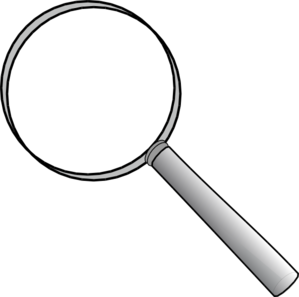 Hand Lens Clipart Black And White.